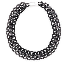 Frank Usher Metallic Mesh Magnetic 51cm Necklace