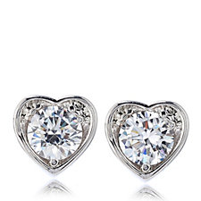 Elizabeth Taylor Heart Stud Earrings