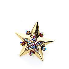 Butler & Wilson Crystal Enamel Star Brooch