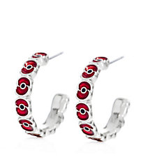 The Poppy Collection Hoop Earrings by Buckley London