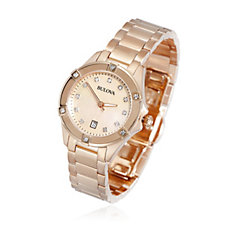 Bulova Ladies Diamond Gallery Stainless Steel Watch