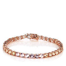 Diamonique 18ct tw Ombre Tennis 18cm Bracelet Sterling Silver