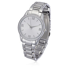 Diamonique 0.6ct tw Coloured Dial Bracelet Watch