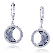 Aurora Swarovski Crystal Crescent Moon Leverback Earrings