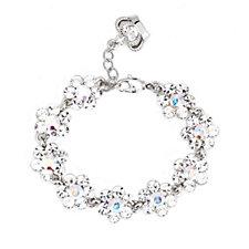 Butler & Wilson Faux Pearl Crystal Flower Bracelet