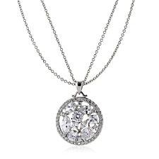 Michelle Mone for Diamonique 4.8ct tw Mixed Cut Pendant & Chain Sterling Silver