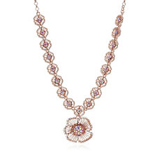 Butler & Wilson Large & Small Flower 41cm Necklace