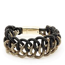 Frank Usher Metallic Mesh Magnetic Bracelet