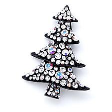 Butler & Wilson Crystal Festive Tree Brooch