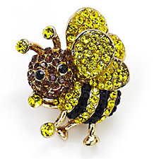 Butler & Wilson Small Crystal Bee Pin Brooch