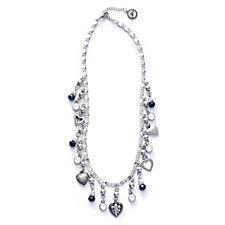 Bibi Bijoux Bead & Heart Charm Drop 50cm Necklace