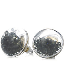 Frank Usher Floating Crystal Stud Earrings