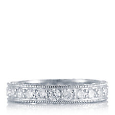 Diamonique 2.4ct tw Full Eternity Ring Sterling Silver