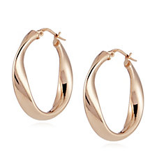 Bronzo Italia Wave Hoop Earrings