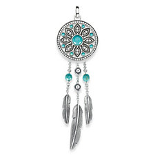 Thomas Sabo Dreamcatcher Simulated Turquoise Pendant Sterling Silver