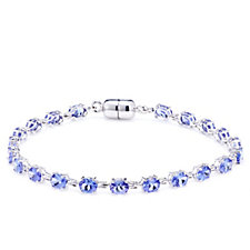 7.26ct AAA Tanzanite Oval 19.5cm Bracelet 18ct Gold