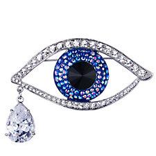 Butler & Wilson Large Crystal Eye Brooch