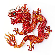 Butler & Wilson Couture Crystal Chinese Dragon Brooch