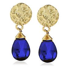 Azuni London Princess Semi Precious Stone Drop Earrings