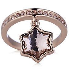 Aurora Swarovski Crystal Star Charm Ring