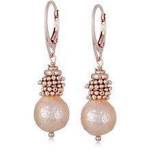 Honora 11-12mm Cultured Ming Pearl Drop Earrings Bronze