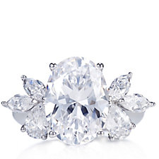 Michelle Mone for Diamonique 8.32ct tw Cocktail Ring Sterling Silver