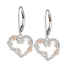 Clogau 9ct Rose Gold & Sterling Silver Primrose Garden Drop Earrings