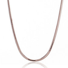 Bronzo Italia Rose Gold Plated Snake Chain