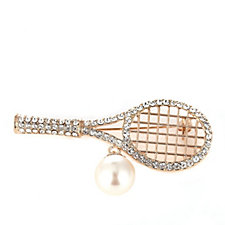 Nour Tennis Racket Brooch