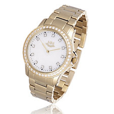 Michelle Mone for Diamonique 1.7ct tw Mother of Pearl Bracelet Watch
