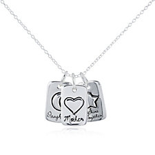 Extraordinary Life Shine Together Pendant Set Sterling Silver