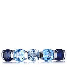 Diamonique 1.9ct tw Half Eternity Ring Sterling Silver