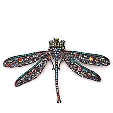 Butler & Wilson Vintage Crystal Dragonfly Brooch