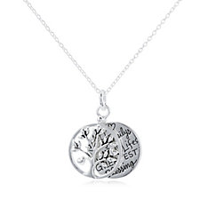 Extraordinary Life Family Tree Pendant & Chain Sterling Silver