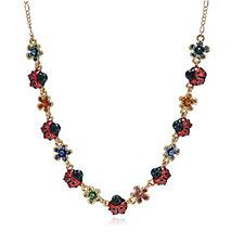 Butler & Wilson Ladybird & Flower 42cm Necklace