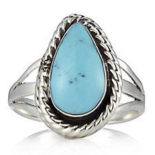 Nizhoni Turquoise Tear Ring Sterling Silver