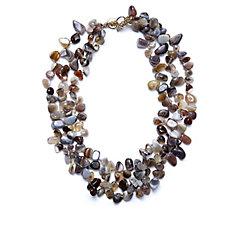 Bcharmd Nema Semi Precious Layered 58cm Necklace
