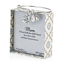 Extraordinary Life Charm Bangle for Mothers Sterling Silver