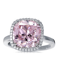 Michelle Mone for Diamonique 8.5ct tw Cushion Cocktail Ring Sterling Silver