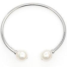 Honora 11-12mm Culutured Pearl Cuff Bracelet Sterling Silver