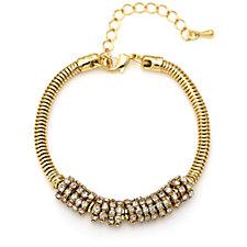 loveRocks Pave Snake Chain 19cm Bracelet