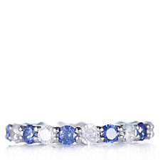 Diamonique 2.1ct tw Simulated Gemstone Full Eternity Ring Sterling Silver