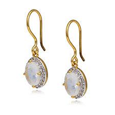 K By Kelly Hoppen White Sapphire Rainbow Moonstone Earrings Sterling Silver