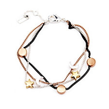 Pilgrim Star Moon & Circle Bracelet