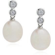 Honora 9-9.5mm Cultured Pearl Drop Earrings Sterling Silver