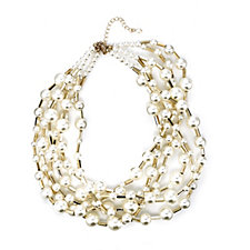 Frank Usher Multi Strand Sim Pearl Necklace