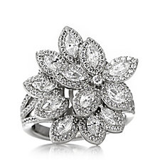 Michelle Mone for Diamonique 2.8ct tw Marquise Cocktail Ring Sterling Silver