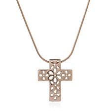 Bronzo Italia Cross Pendant 45cm Necklace