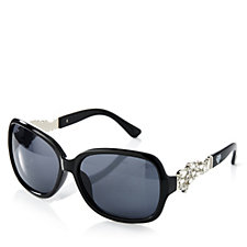 loveRocks Crystal Sunglasses with Side Detail & Case