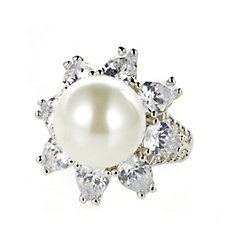 Elizabeth Taylor South Sea-Style Simulated Pearl Ring